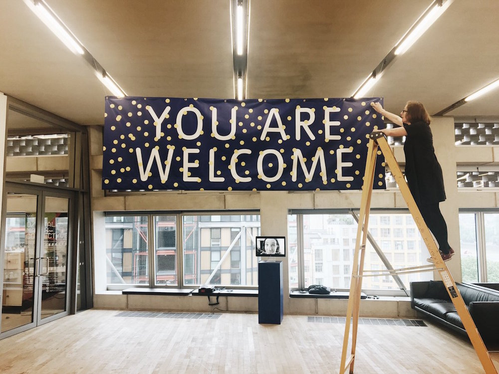 Sarah Carne's new project, 'You are Welcome' at Tate Exchange